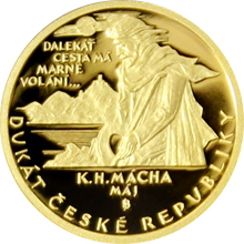 Jednodukát ČR 2016 Karel Hynek Mácha - Máj Proof