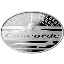 Strieborná minca 1 NZD 40 let Concordu 2016 Proof