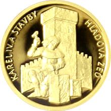 Zlatá minca 5 NZD Karel IV. a stavby - Hladová stena 2016 Proof