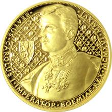 Zlatá půluncová minca 25 NZD Karel I. 2016 Proof