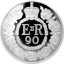 Stříbrná mince 5 Oz Královna Alžběta II. 90. výročí narození 2016 Proof