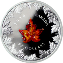 Strieborná minca 5 Oz Murano Maple Leaf Autumn Radiance 2016 Proof (.9999)