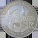 Stříbrná mince Rozloučení se slovenskou korunou 2008