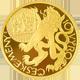 Zlatá čtvrtuncová medaile 10. výročí české měny a vznik České mincovny 2003 Proof