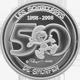 Stříbrná mince Šmoulové 50. výročí 2008