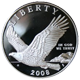 Stříbrná mince Bald Eagle 2008