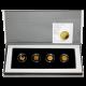 Biblické umění Sada 4 nejmenších zlatých mincí Izrael 2008 - 2011 Proof