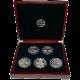 BIG FIVE sada stříbrných mincí Afrika Největší unce světa 2010 Proof
