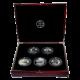 BIG FIVE sada stříbrných mincí Pět Kontinentů Největší unce světa 2011 Proof