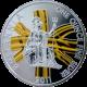 Stříbrná mince pozlacená Britannia 1 Oz 2011 Proof