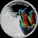 Stříbrná mince Dendrogyra Cylindricus 2011 Proof Tuvalu