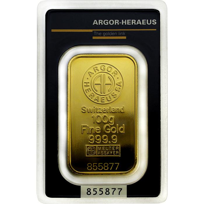 248581e9a 100g Argor Heraeus SA Švajčiarsko Investičná zlatá tehlička [000315 ...