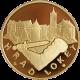 Zlatá uncová medaile Hrad Loket 2011 Proof