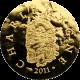 Zlatá minca Karol Veľký 2011 Proof