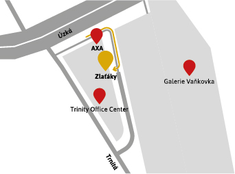 Prodejna Brno mapa