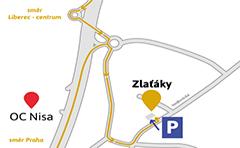 Prodejna Liberec mapa