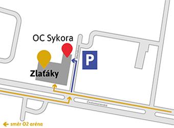 Prodejna Praha mapa