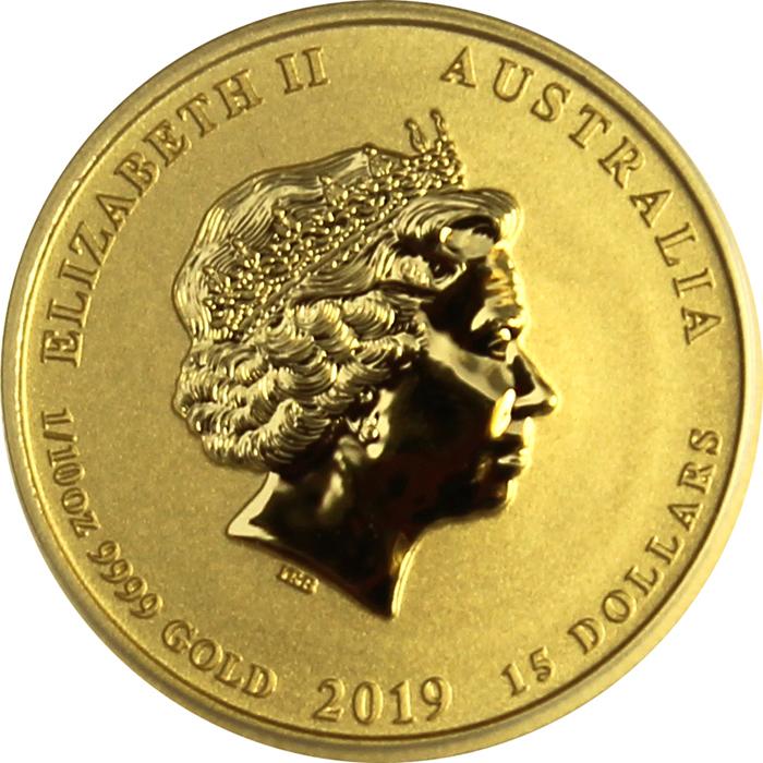 b6128edd7 Zlatá investičná minca Year of the Pig Rok Prasaťa Lunárny 1/10 Oz 2019