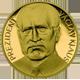 Zlatá čtvrtuncová medaile Václav Klaus Vznik ČR 2008 Proof