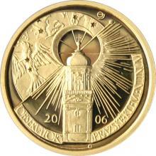 Zlatá mince 2500 Kč Klementinum v Praze 2006 Proof