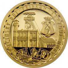 Zlatá minca 2500 Kč Ševčínska baňa Příbram 2007 Proof