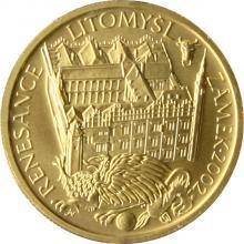Zlatá minca 2000 Kč Zámek v Litomyšli Renesancia 2002 Štandard