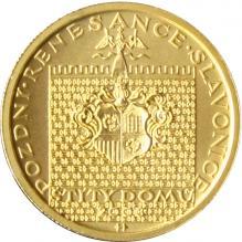 Zlatá mince 2000 Kč Štíty Domů ve Slavonicích Pozdní Renesance 2003 Standard