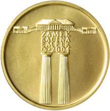 Zlatá mince 2000 Kč Zámek Kačina Empír 2004 Standard