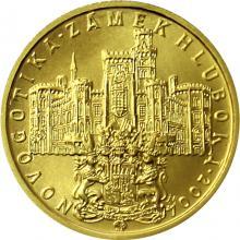 Zlatá minca 2000 Kč Zámok Hluboká Novogotika 2004 Štandard