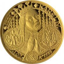 Zlatá mince 10000 Kč KAREL IV. Nové Město Pražské 1998 Proof