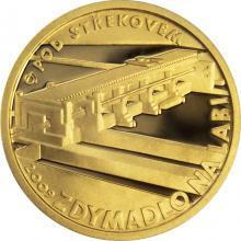 Zlatá minca 2500 Kč Zdymadlo na Labi pod Střekovem 2009 Proof