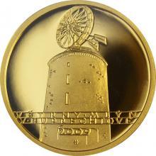 Zlatá minca 2500 Kč Veterný mlyn v Ruprechtově 2009 Proof