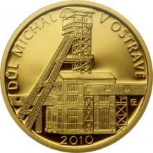 Zlatá mince 2500 Kč Důl Michal v Ostravě 2010 Proof