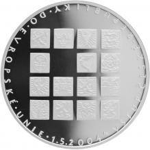 Stříbrná mince 200 Kč Vstup České republiky do Evropské unie 2004 Proof