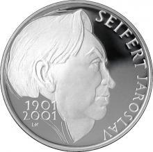 Stříbrná mince 200 Kč Jaroslav Seifert 100. výročí narození 2001 Proof
