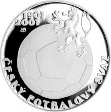 Stříbrná mince 200 Kč Založení Českého fotbalového svazu 100. výročí 2001 Proof