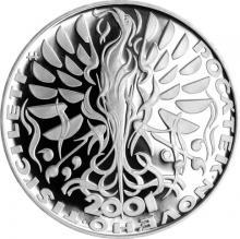Stříbrná mince 200 Kč Počátek nového tisíciletí 2000 Proof