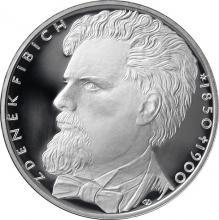Strieborná minca 200 Kč Zdeněk Fibich 150. výr. narodeneni a 100. výr. úmrtia 2000 Proof