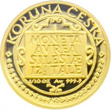 Zlatá mince 1000 Kč Třídukát slezských stavů 1997 Proof
