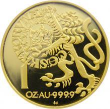 Zlatá minca 10000 Kč Pražský groš 1997 Proof