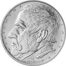 Stříbrná mince 200 Kč František Palacký 200. výročí narození 1998 Proof