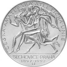 Stříbrná mince 200 Kč Založení České amatérské atletické unie 100. výročí 1997 Proof