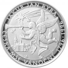 Stříbrná mince 200 Kč Jakub Jan Ryba Česká mše vánoční 200. výročí 1996 Proof