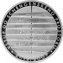Stříbrná mince 200 Kč Vstup do schengenského prostoru 2008 Proof
