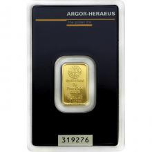 5g Argor Heraeus SA Švajčiarsko Investičná zlatá tehlička