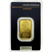 10g Argor Heraeus SA Švýcarsko Investiční zlatý slitek