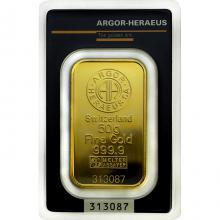 50g Argor Heraeus SA Švajčiarsko Investičná zlatá tehlička
