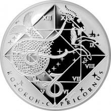 Stříbrná medaile Kozoroh Znamení zvěrokruhu Proof