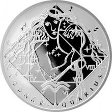 Stříbrná medaile Vodnář Znamení zvěrokruhu Proof