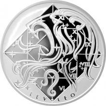 Stříbrná medaile Lev Znamení zvěrokruhu Proof